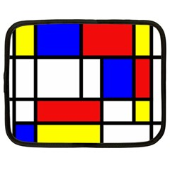 Mondrian Red Blue Yellow Netbook Case (xxl)