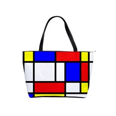 Mondrian Red Blue Yellow Shoulder Handbags