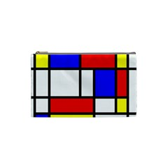 Mondrian Red Blue Yellow Cosmetic Bag (Small)