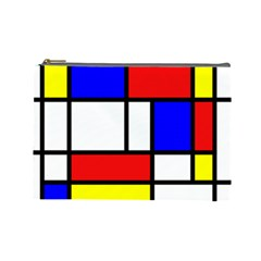 Mondrian Red Blue Yellow Cosmetic Bag (large)