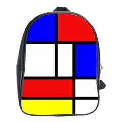 Mondrian Red Blue Yellow School Bags(large)