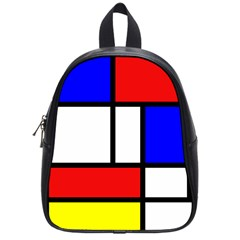 Mondrian Red Blue Yellow School Bags (small)