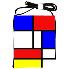 Mondrian Red Blue Yellow Shoulder Sling Bags