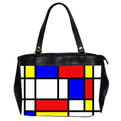 Mondrian Red Blue Yellow Office Handbags (2 Sides)