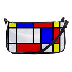 Mondrian Red Blue Yellow Shoulder Clutch Bags