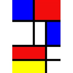 Mondrian Red Blue Yellow 5.5  x 8.5  Notebooks