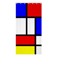Mondrian Red Blue Yellow Shower Curtain 36  x 72  (Stall)