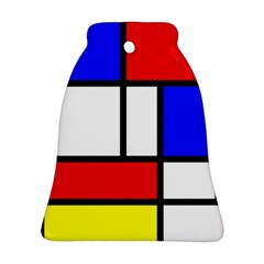 Mondrian Red Blue Yellow Ornament (bell)