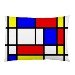 Mondrian Red Blue Yellow Pillow Case (two Sides)