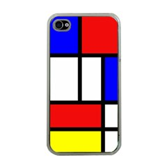 Mondrian Red Blue Yellow Apple Iphone 4 Case (clear)