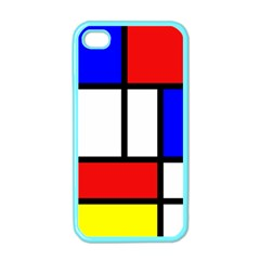 Mondrian Red Blue Yellow Apple Iphone 4 Case (color)