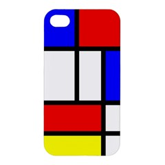 Mondrian Red Blue Yellow Apple Iphone 4/4s Hardshell Case