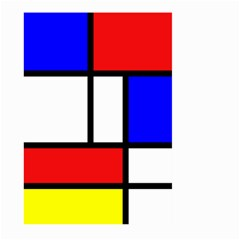 Mondrian Red Blue Yellow Large Garden Flag (two Sides)