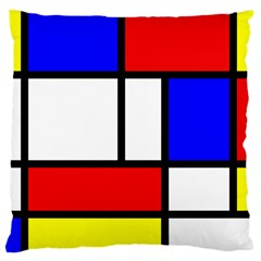 Mondrian Red Blue Yellow Large Cushion Case (one Side)