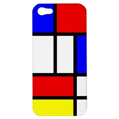 Mondrian Red Blue Yellow Apple Iphone 5 Hardshell Case