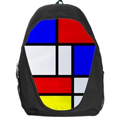 Mondrian Red Blue Yellow Backpack Bag
