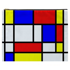 Mondrian Red Blue Yellow Cosmetic Bag (xxxl)