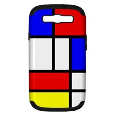 Mondrian Red Blue Yellow Samsung Galaxy S Iii Hardshell Case (pc+silicone)