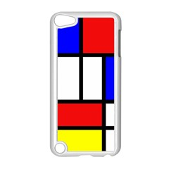Mondrian Red Blue Yellow Apple iPod Touch 5 Case (White)