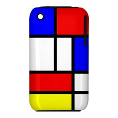 Mondrian Red Blue Yellow Iphone 3s/3gs