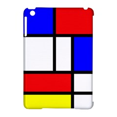 Mondrian Red Blue Yellow Apple Ipad Mini Hardshell Case (compatible With Smart Cover)