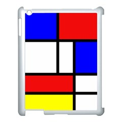 Mondrian Red Blue Yellow Apple Ipad 3/4 Case (white)