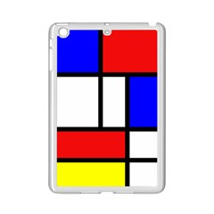 Mondrian Red Blue Yellow Ipad Mini 2 Enamel Coated Cases