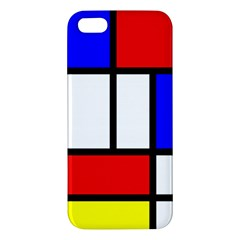 Mondrian Red Blue Yellow Apple Iphone 5 Premium Hardshell Case