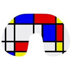 Mondrian Red Blue Yellow Travel Neck Pillows