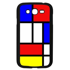 Mondrian Red Blue Yellow Samsung Galaxy Grand Duos I9082 Case (black)