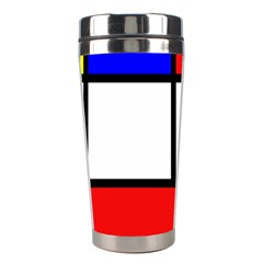 Mondrian Red Blue Yellow Stainless Steel Travel Tumblers