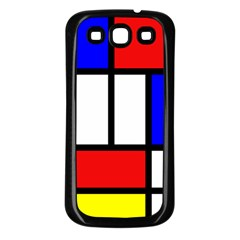 Mondrian Red Blue Yellow Samsung Galaxy S3 Back Case (black)