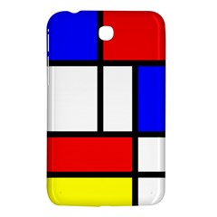 Mondrian Red Blue Yellow Samsung Galaxy Tab 3 (7 ) P3200 Hardshell Case
