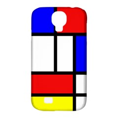 Mondrian Red Blue Yellow Samsung Galaxy S4 Classic Hardshell Case (PC+Silicone)