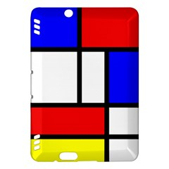 Mondrian Red Blue Yellow Kindle Fire Hdx Hardshell Case