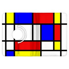Mondrian Red Blue Yellow Kindle Fire Hdx Flip 360 Case