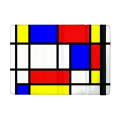 Mondrian Red Blue Yellow Ipad Mini 2 Flip Cases