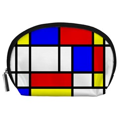 Mondrian Red Blue Yellow Accessory Pouches (large)