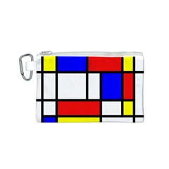 Mondrian Red Blue Yellow Canvas Cosmetic Bag (s)