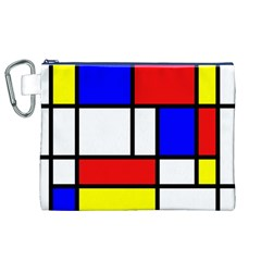 Mondrian Red Blue Yellow Canvas Cosmetic Bag (xl)