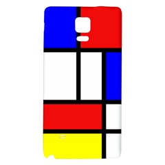 Mondrian Red Blue Yellow Galaxy Note 4 Back Case