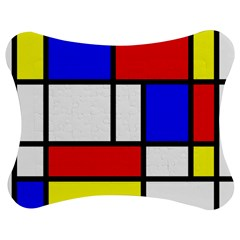 Mondrian Red Blue Yellow Jigsaw Puzzle Photo Stand (bow)