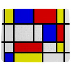 Mondrian Red Blue Yellow Jigsaw Puzzle Photo Stand (Rectangular)