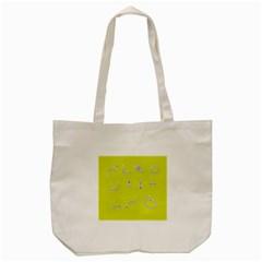 Arrow Line Sign Circle Flat Curve Tote Bag (cream)