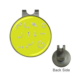 Arrow Line Sign Circle Flat Curve Hat Clips With Golf Markers