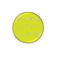Arrow Line Sign Circle Flat Curve Hat Clip Ball Marker (4 Pack)