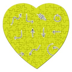 Arrow Line Sign Circle Flat Curve Jigsaw Puzzle (heart)