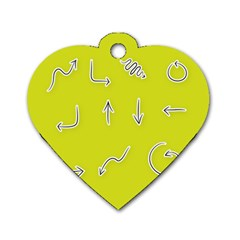Arrow Line Sign Circle Flat Curve Dog Tag Heart (Two Sides)