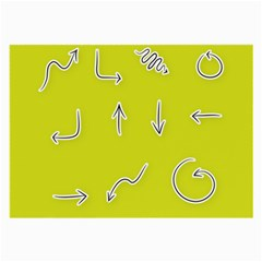 Arrow Line Sign Circle Flat Curve Large Glasses Cloth (2 Side)
