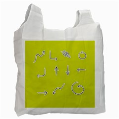 Arrow Line Sign Circle Flat Curve Recycle Bag (two Side)